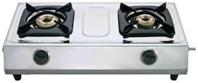 Pigeon PLUTO 2 Burners Stainless Steel Gas Stove - Silver