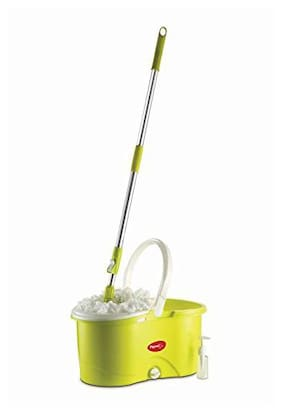Pigeon Quick Spin Mop (with 2 Refills & Built in Wringer-Green)