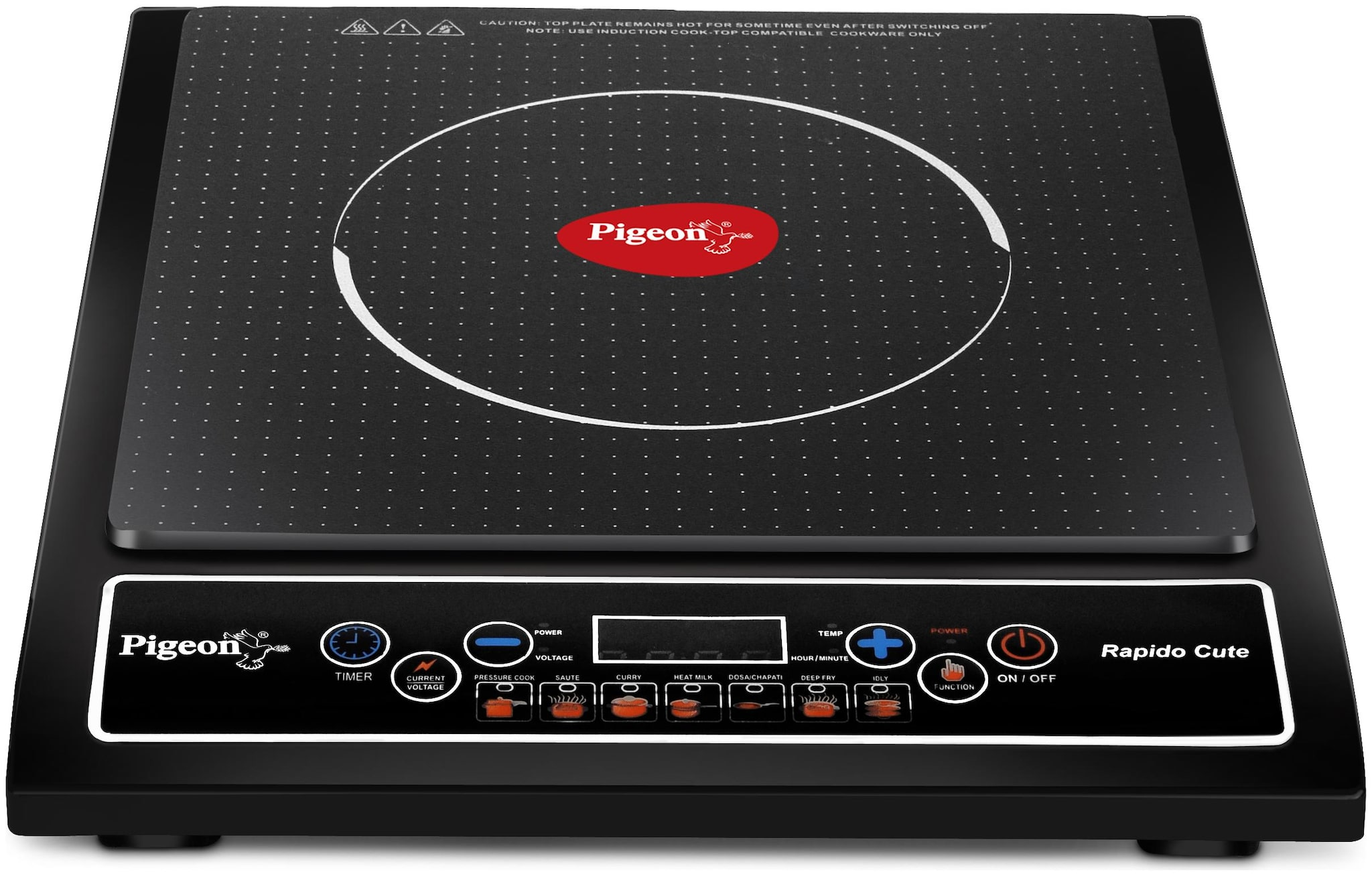 Pigeon Rapido Cute 1800 W Induction Cooktop (Black)