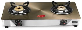Pigeon Smart Plus Metallic Gold 2 Burner Gas Stove Manual Ignition