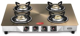 Pigeon Smart Plus Metallic Gold 4 Burner Gas Stove Manual Ignition