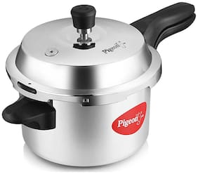 Pigeon Stainless Steel 5 L Induction Bottom Outer Lid Pressure Cooker - Set of 1 , ISI Certified