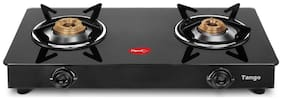 Pigeon TANGO 2 Burners Stainless Steel Gas Stove - Black
