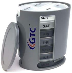 Getko With Device Medicine Storage Pill Pro Box Organizer With 7 Single Box & 4 Daily Compartments