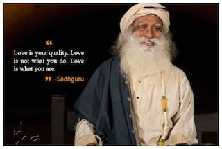 PixaDunes Love is your quality  love is not what you do  love is what you  are-Sadhguru Dhyanalinga Isha FounWall Poster