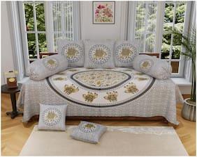 PK Fashions Cotton Printed Single Size Diwan Sets - Pack of 8