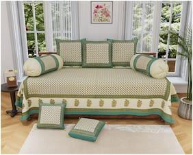 PK Fashions Cotton Floral Single Size Diwan Sets - Pack of 8