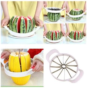Plactical Stainless Steel Fruit Watermelon Cantaloupe Cutter Kitchen Tool