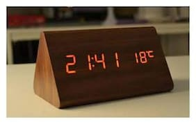 VAGMI Wood Digital Table clock ( Set of 1 )