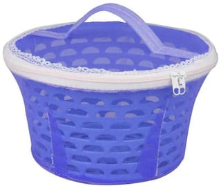 Plastic Fruit & Vegetable Basket With Net Round