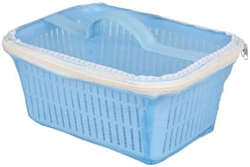 Plastic Fruit and Vegetable Storage Basket with Net