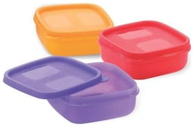 Mastercook 3 Containers Plastic Lunch Box - Assorted