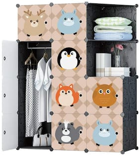 GTC Multi Use Clothes Organizer, Bookcase, Storage Cabinet, Wardrobe Closet 110.5 x 47 x 146 cm Cloth Rack (IT N - STW1007)