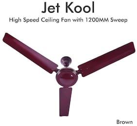 Plaza Jet Kool 1200 mm Regular Range Ceiling Fan - Brown