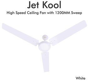 Plaza Jet Kool 1200 mm Regular Range Ceiling Fan - White