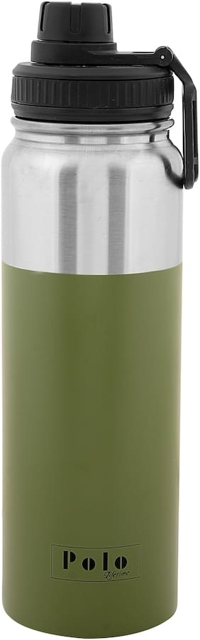 Polo Lifetime 900 ml Stainless steel Olive Water bottles - 1 pc