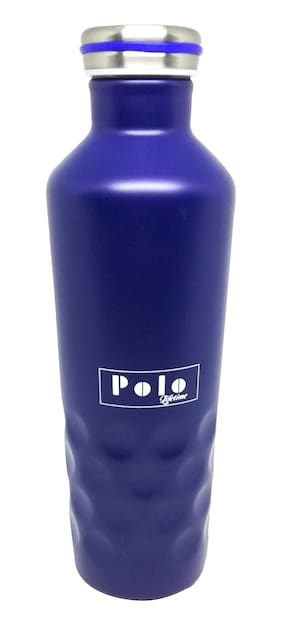 Polo Lifetime 500 ml Stainless steel Navy blue Water bottles - 1 pc