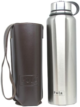 Polo Lifetime Stainless Steel Silver Water Bottle ( 1500 ml , Set of 1 )