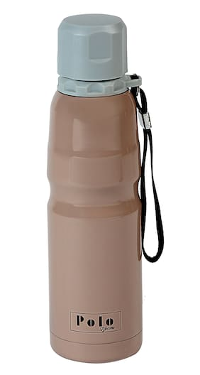 Polo Lifetime 500 ml Stainless steel Brown Water bottles - 1 pc