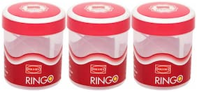 Polyset 1050 ml Pink Plastic Container Set - Set of 3