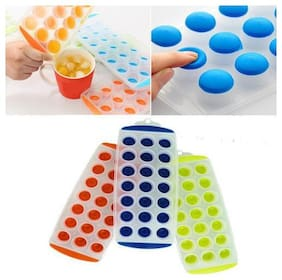 Pop Up Ice Cube Tray For Ice / Chocolate / Jelly Sphere Maker Set of 2 pcs
