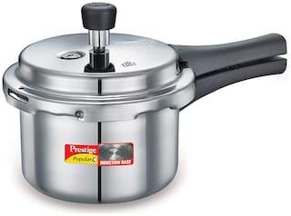 Prestige Popular Plus 10 L Outer Lid Pressure Cooker Induction Bottom ( Silver , Aluminium , Set of 1 )