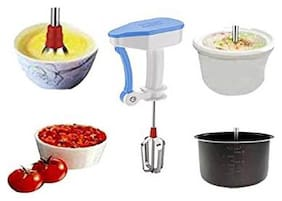 Popular Power Free Hand Blender & Beater (Steel Blades, Assorted Color)