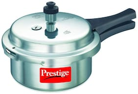 Prestige Popular Aluminum Pressure Cooker, 1.5 L - Non Induction Base