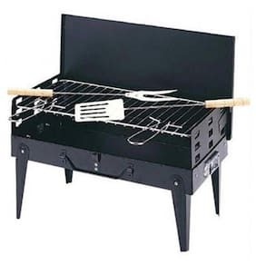 Portable Briefcase Style Folding Barbeque Grill