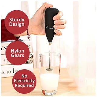 Portable Hand Blender Mixer Froth Whisker Lassi Maker for Milk Coffee Egg Beater And Many More (Assorted Colors)