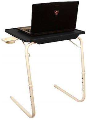 Portable Laptop Table Black Top White Legs