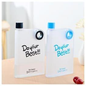 FUNKY DEAL 380 ml Plastic Assorted Fridge Bottles & Water Bottles - Set of 2