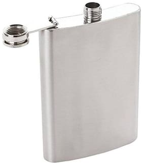Portable Stainless Steel Hip Flask Alcohol Wine Bottle Outdoor Drinking  226.79 g (8 oz)