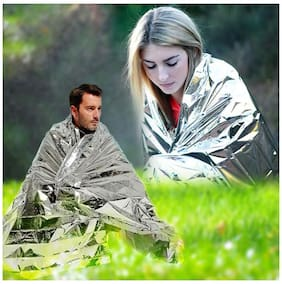Portable Waterproof Emergency Space Rescue Thermal Mylar Blankets 1.4m X 2.1m