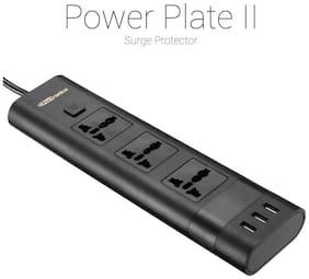Portronics Three Pin Black Extension Board ( 1.5 m , 3 Socket , 1 Switches)