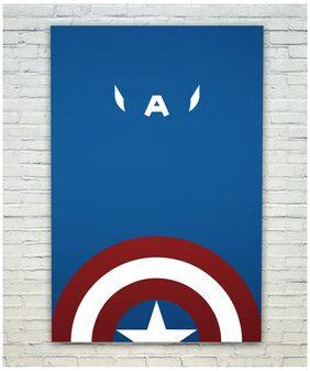 Posterskart Captain America Minimal Poster (30.48 cm (12 inch) x 45.72 cm (18 inch))