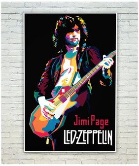 Posterskart Led Zeppelin Jimi Page Graphic Art Poster (30.48 cm (12 inch) x 45.72 cm (18 inch))