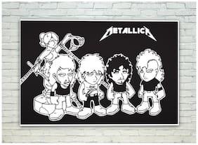 Posterskart Metallica Black & White Poster (30.48 cm (12 inch) x 45.72 cm (18 inch))