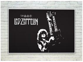 Posterskart Led Zeppelin Black & White Poster (30.48 cm (12 inch) x 45.72 cm (18 inch))