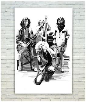 Posterskart Led Zeppelin Black & White Sketch Poster (30.48 cm (12 inch) x 45.72 cm (18 inch))