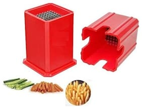 Potato Chipser/ French Fries Cutter With Stainless Steel Blades (Assorted Color)