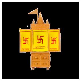 Pray Everyday Wooden Temple  Vastu Home