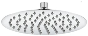 Prayag hydro 8x8 Ultra Slim Brass Rain shower with 12 inch Arm (Set of 2)