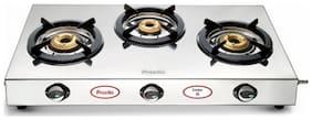 Preethi 3 Burners Gas Stove - Silver