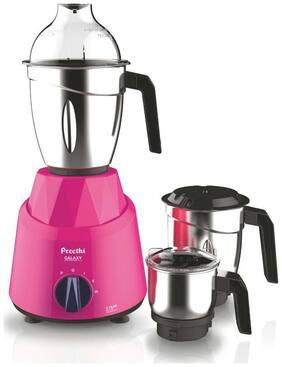 Preethi GALAXY 750 W Mixer Grinder ( Pink , 3 Jars )
