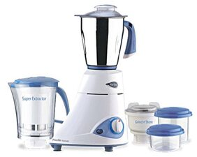 Preethi Platinum - Mg 139 750 W 4 Jars Centrifugal Juicer ( White & Blue )