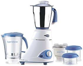Preethi PLATINUM - MG 139 750 W Mixer Grinder ( White & Blue , 4 Jars )