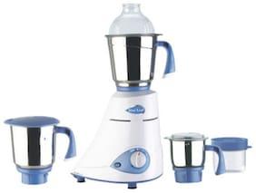 Preethi SILVER - MG149 600 W Mixer Grinder ( White & Blue , 3 Jars )
