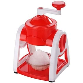 Premillia  Premium Plastic Gola maker / Ice Slush Maker with Unbreakable / Food Grade Plastic Body. Gola Maker Manual Set RED ( Color May Vary )