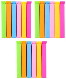 Premium Quality Small, Medium, Large Plastic Bag Clip  (Set of 18, Multicolor)
